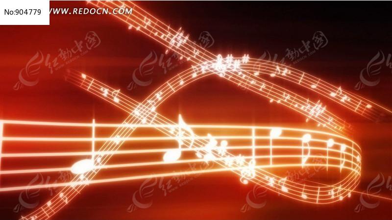 动态音乐符号视频背景