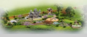 别墅庭院私家花园效果图