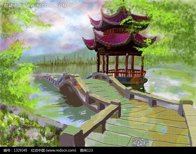 杭州西湖鼠绘画_产品设计/psd素材图片素材