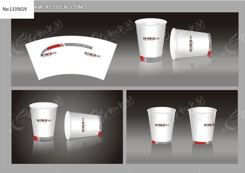 纸杯设计; vi纸杯模板;