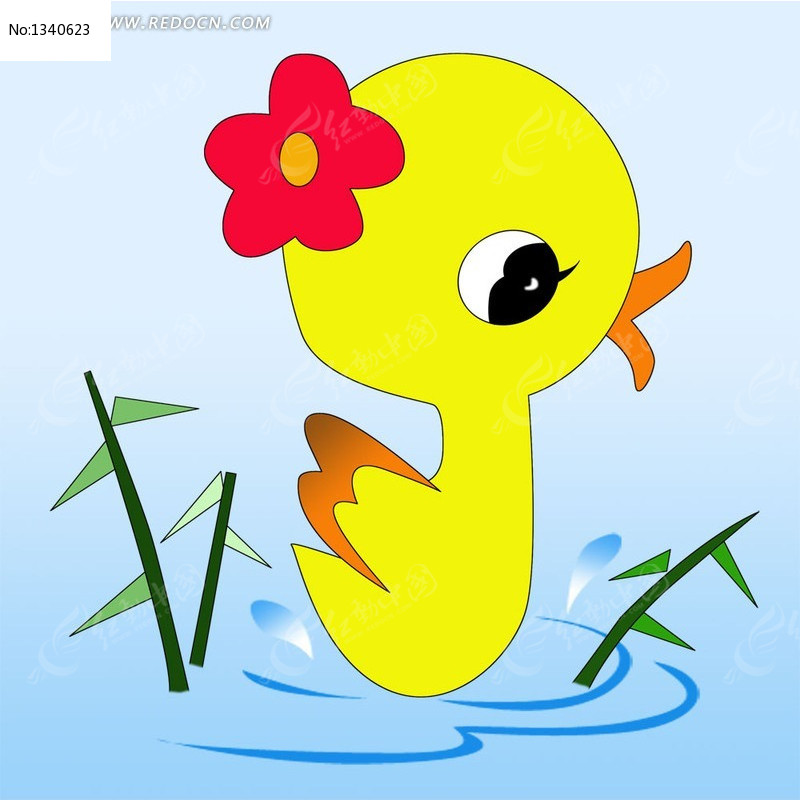 卡通图片小鸭psd插画
