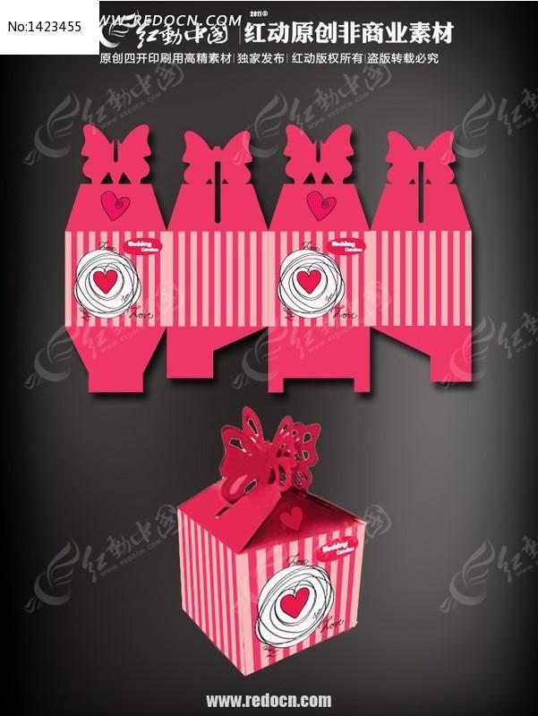 红色糖果包装盒设计