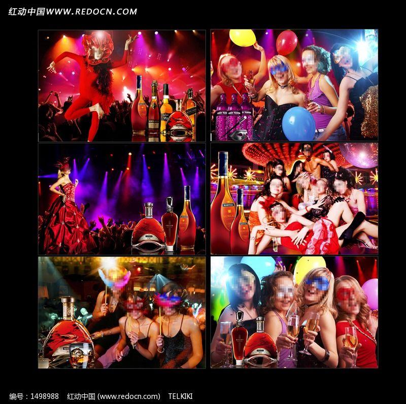 狂欢节 面具 酒吧 KTV 夜场 BAR 夜店 广告设计psd分层素材图片