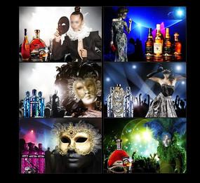 狂欢节 假面舞会海报素材设计
