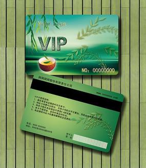 高贵绿色茶艺茶叶VIP会员卡设计