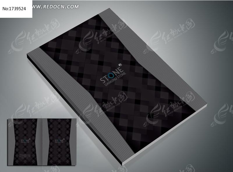简洁大气黑色封面设计图片