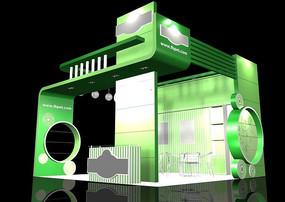 绿色展览展台模型max文件设计