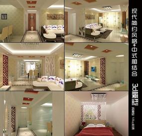 150平方家庭装修3d模型