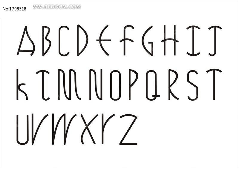 英文字体艺术字图片