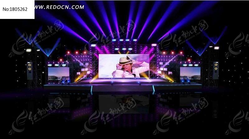 演唱会舞台设计3D设计模型图片