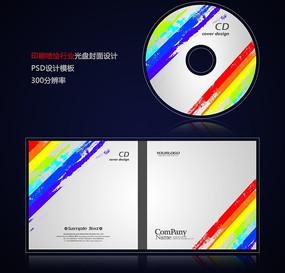 彩色印刷喷绘写真行业光盘封面设计psd PSD
