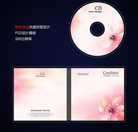 粉色花朵美容美发光盘封面设计psd PSD