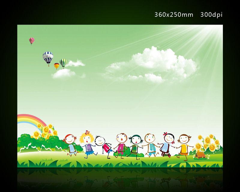 幼儿园卡通背景设计_企业/学校/党建展板图片素材