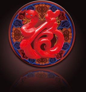 2013蛇福字贴设计