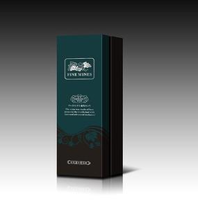 红酒礼盒包装平面图