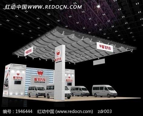 灰色汽车展厅3d模型设计图片