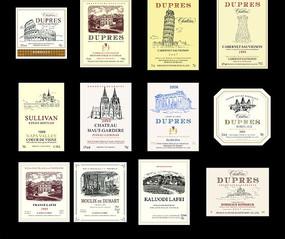 法国红酒酒标