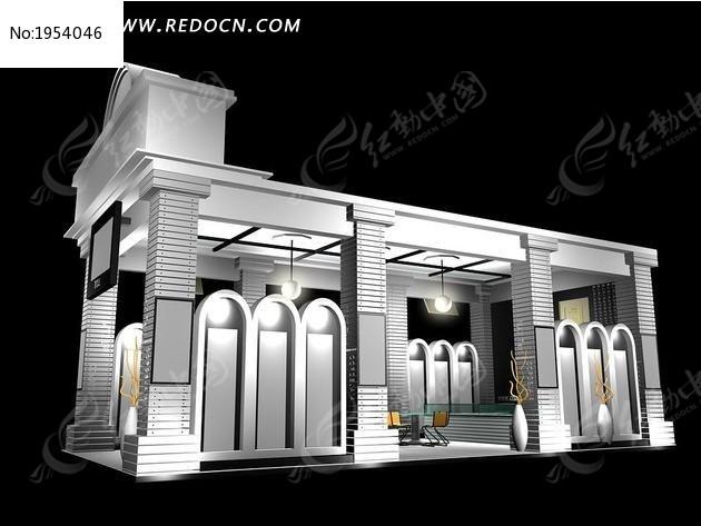 欧式3d展台max模型_3d模型/3d素材图片素材