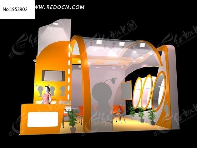 标签:黄色3D展台max模型 展览设计 3D展示造型 效果图 3D设计模型 图片