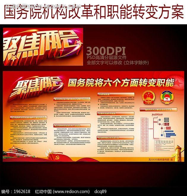国务院将六个方面转变职能宣传栏图片