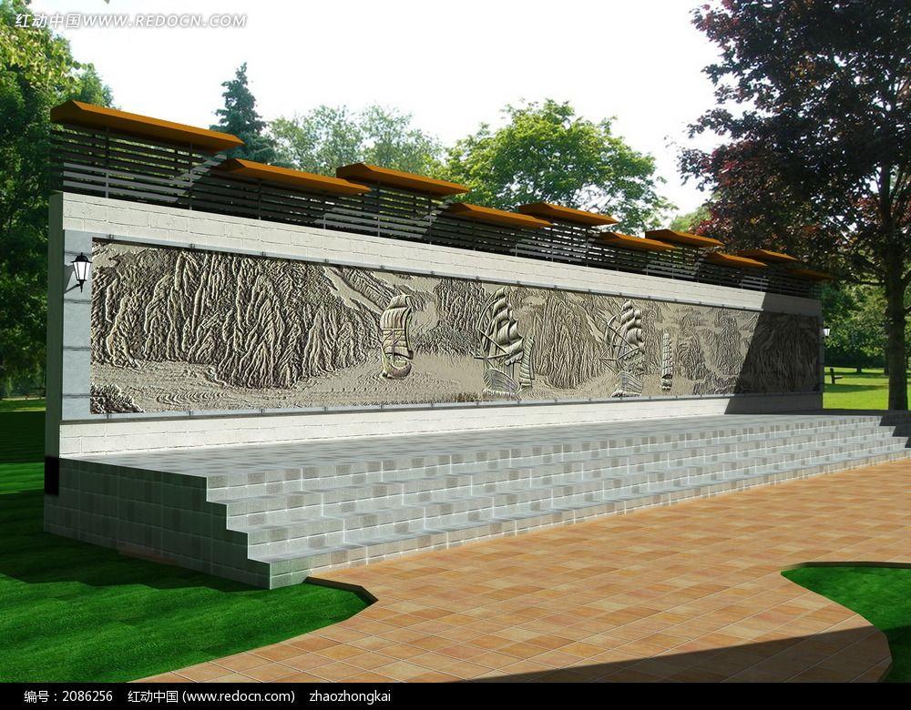 廊架浮雕3d模型(内含全部材质贴图)