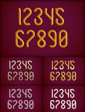 曲奇饼数字字体样式