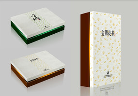 简洁大气金银花茶包装设计