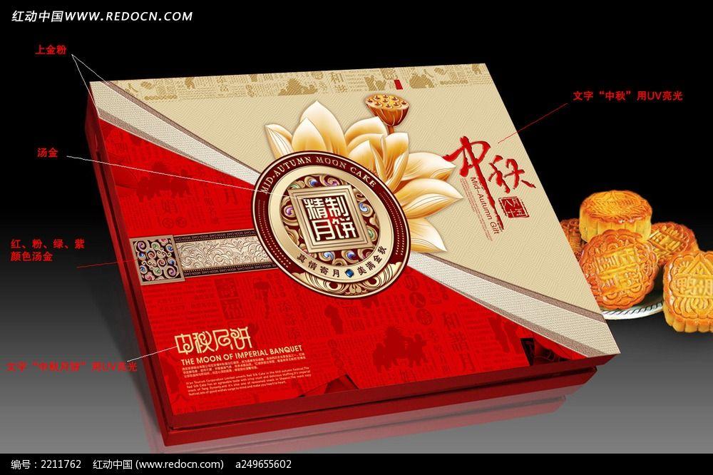 标签:月饼包装素材 月饼包装模板 月饼包装 中秋月饼 天地盖 展开图
