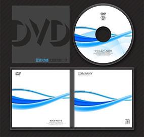 蓝色科技行业光盘系列模板 PSD
