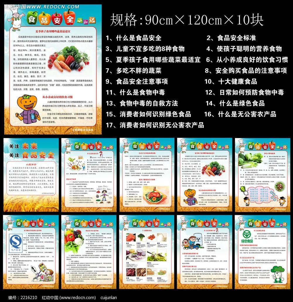 食品安全小常识展板设计素材下载 编号2216210 红动网图片