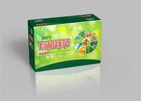 健康绿色有机蔬菜外箱设计
