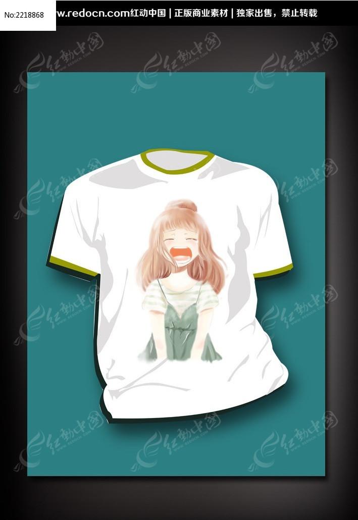 8款 t恤服装印花图案