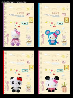 简笔画日记本手绘花边_心形花纹记事本封面 可爱小猫记事本封面 可爱玩具日记本封面 女孩