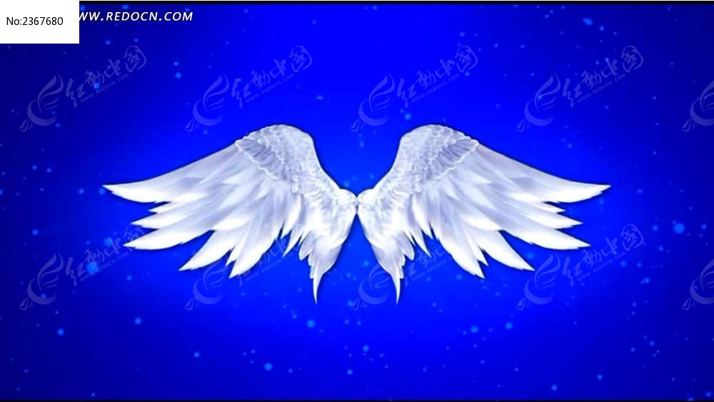 天使翅膀婚庆视频背景avi素材下载
