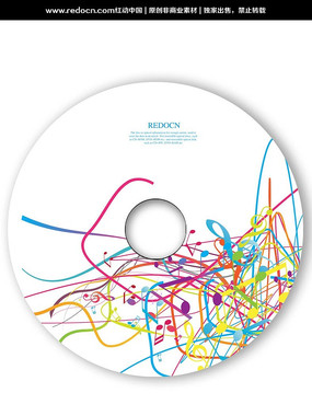 音符音乐光盘 PSD