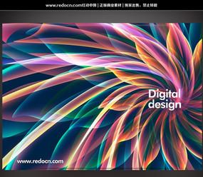 动感绚彩花瓣数码创意背景设计