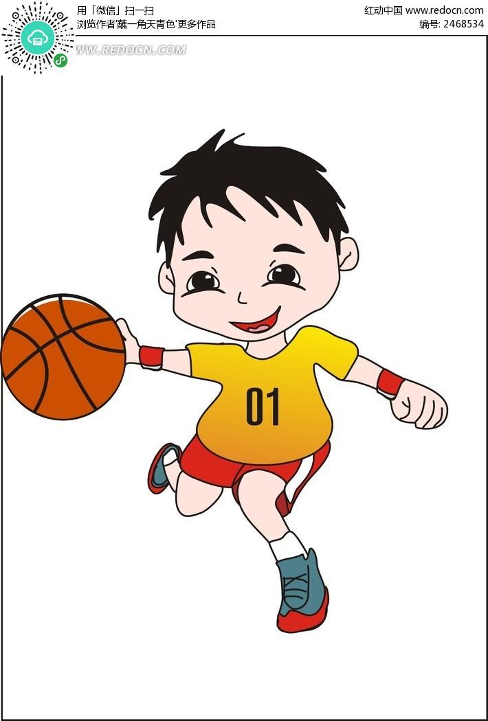 卡通小男孩 可爱 笑脸