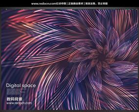 绚丽数码立体线条海报设计