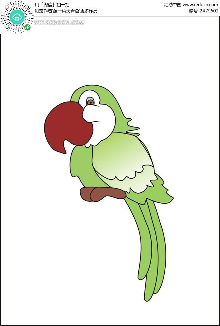 手绘鹦鹉图片卡通
