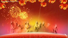 2014马年春节晚会通用片头开场视频