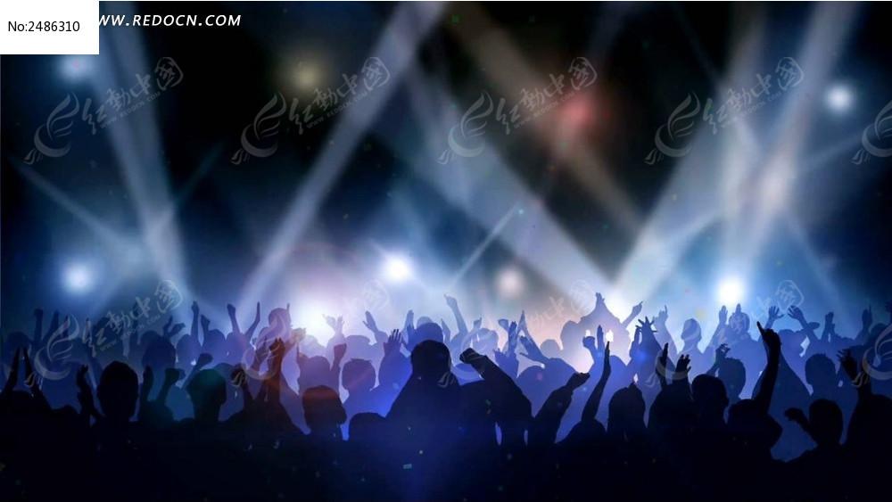 视频_led蹦迪音乐会现场举手欢呼视频