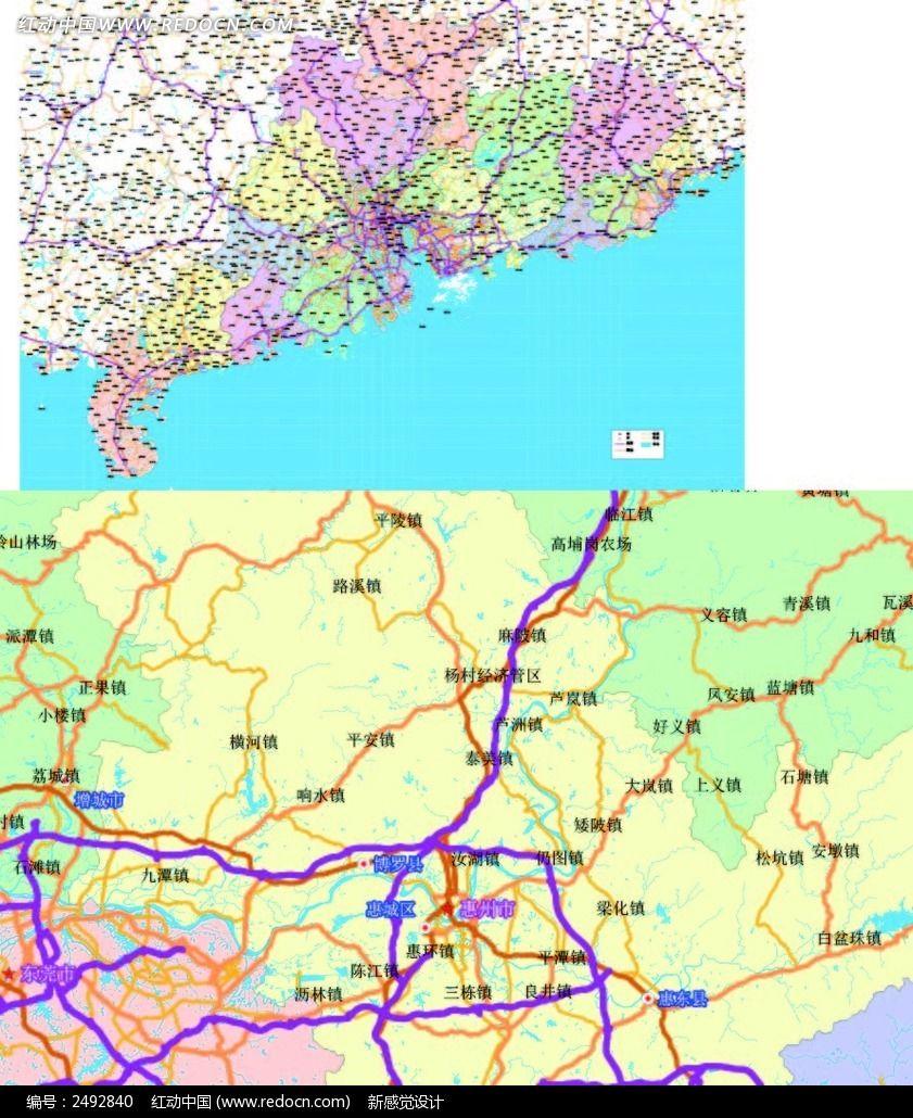 广东省行政地图