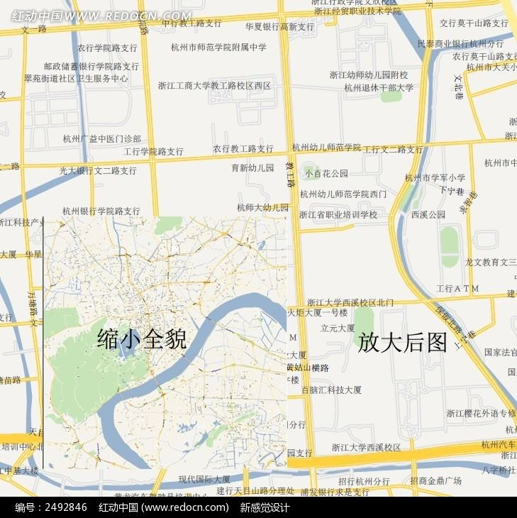 杭州城区地图