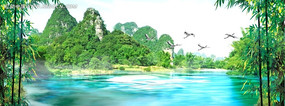 山水风光动态视频背景