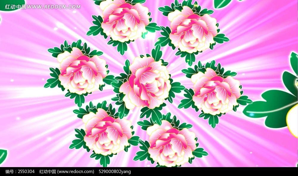 喜庆图案 手绘牡丹花