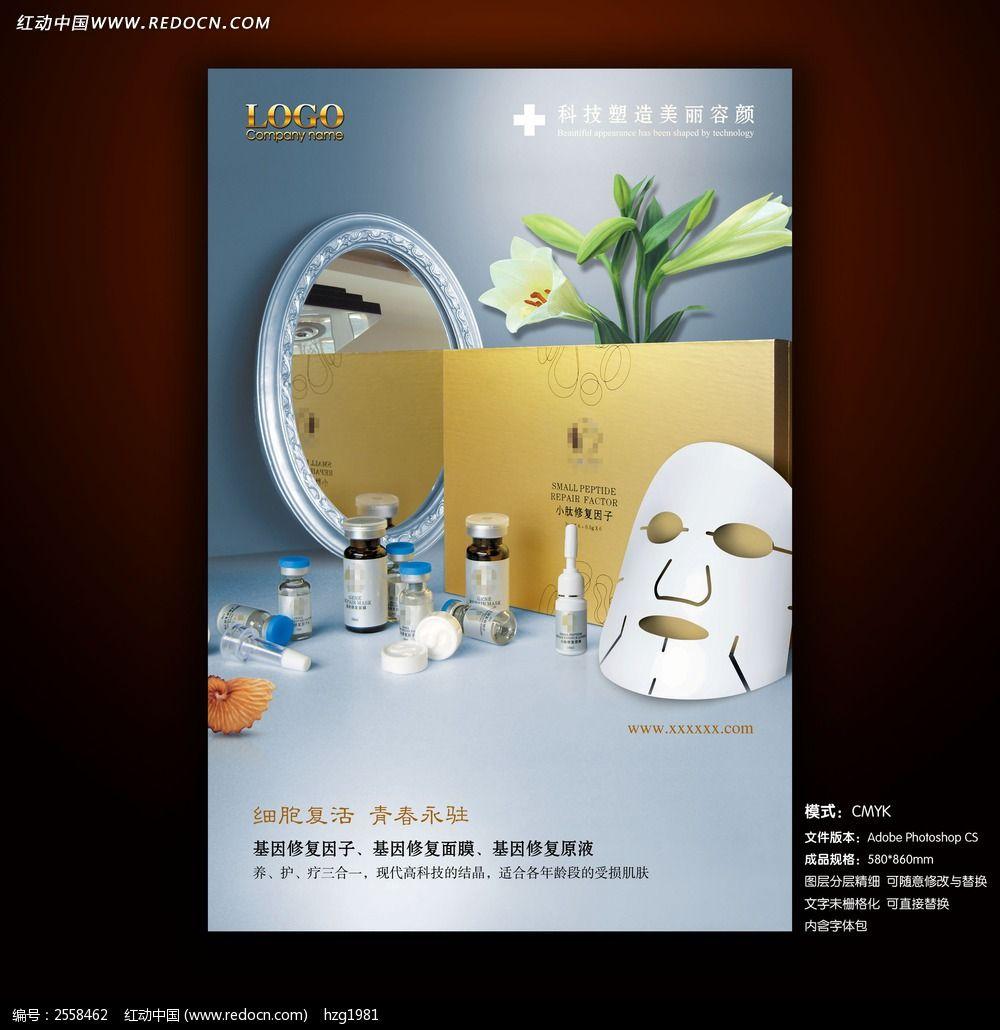 基因修复美容产品宣传海报设计模板下载(编号:2558462