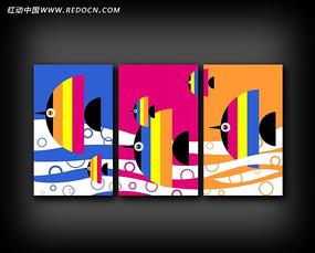 热带鱼无框装饰画