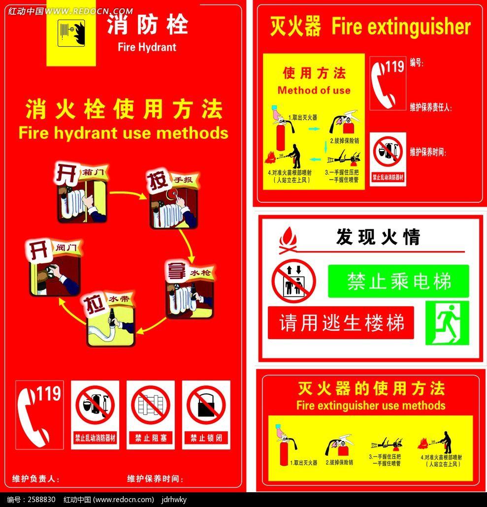 消火栓使用方法展板