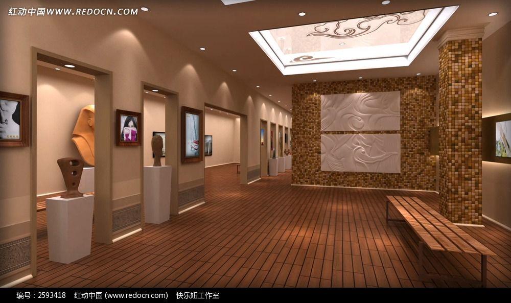 画廊照片展示婚礼相册ae模板含音乐图片