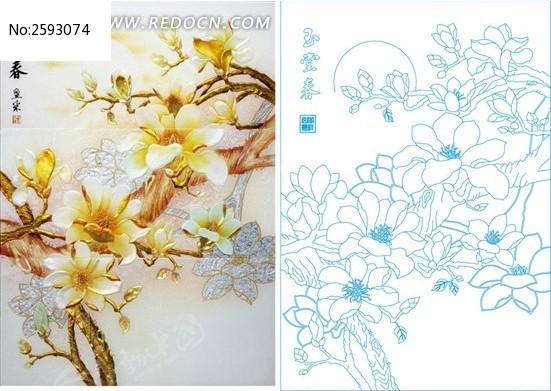 艺术玻璃花型囹�b_玉堂春艺术玻璃图案